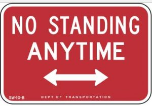 no standing sign-nyc