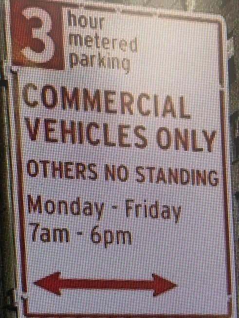 Can I park in a commercial zone?