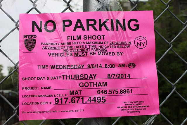 What Happens to Parking When a Film Crew Moves In?